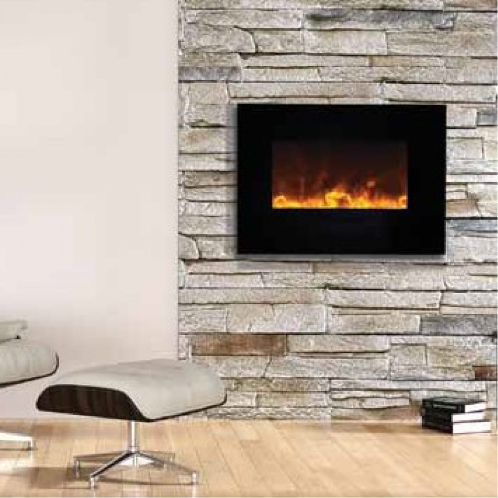 AMANTII® FLUSH MOUNT™ WM-FM-26-3623-BG Electric Fireplace