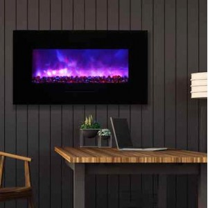 AMANTII® FLUSH MOUNT™ WM-FM-34-4423-BG Electric Fireplace
