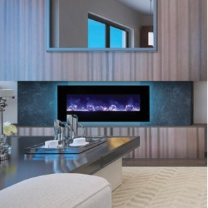 AMANTII® FLUSH MOUNT™ WM-FM-48-5823-BG Electric Fireplace