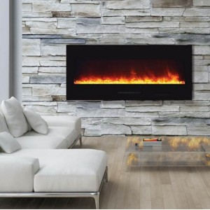 AMANTII® FLUSH MOUNT™ WM-FM-50-BG Electric Fireplace