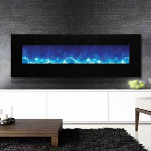 AMANTII® FLUSH MOUNT™ WM-FM-60-7023-BG Electric Fireplace