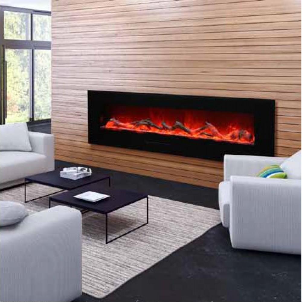 AMANTII® FLUSH MOUNT™ WM-FM-72-8123-BG Electric Fireplace