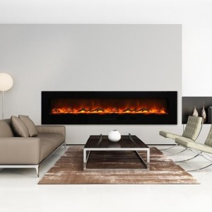AMANTII® FLUSH MOUNT™ WM-FM-88-10023-BG Electric Fireplace