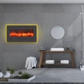 AMANTII® LINEAR SERIES™ WM-FML-34-4023-STL Electric Fireplace