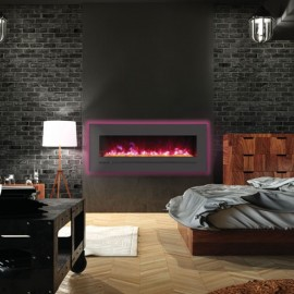 AMANTII® LINEAR SERIES™ WM-FML-48-5523-STL Electric Fireplace