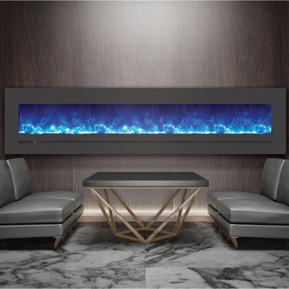 AMANTII® LINEAR SERIES™ WM-FML-88-9623-STL Electric Fireplace